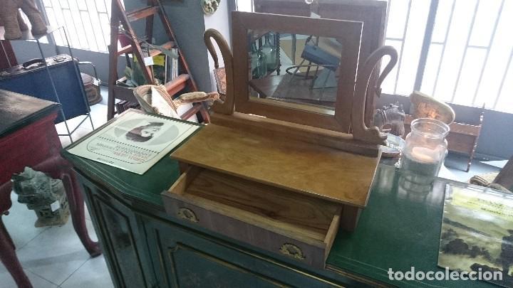 Antigüedades: Antiguo tocador Imperio en madera de nogal. Perfecto. Siglo XIX - Foto 2 - 130452506
