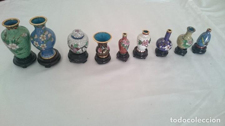 MINIATURAS JARRONES Y TIBORES CHINOS DE PORCELANA PINTADA A MANO.DE COLECCIÓN (Antigüedades - Porcelanas y Cerámicas - Otras)