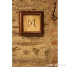 Antigüedades: CUADRO AUTÉNTICA MARIPOSA. Lote 130481898