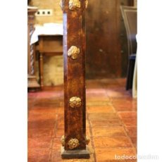 Antigüedades: ANTIGUA COLUMNA DE MADERA. Lote 130483798