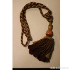 Antigüedades: ANTIGUOS BORLONES PARA CORTINA. Lote 130486054