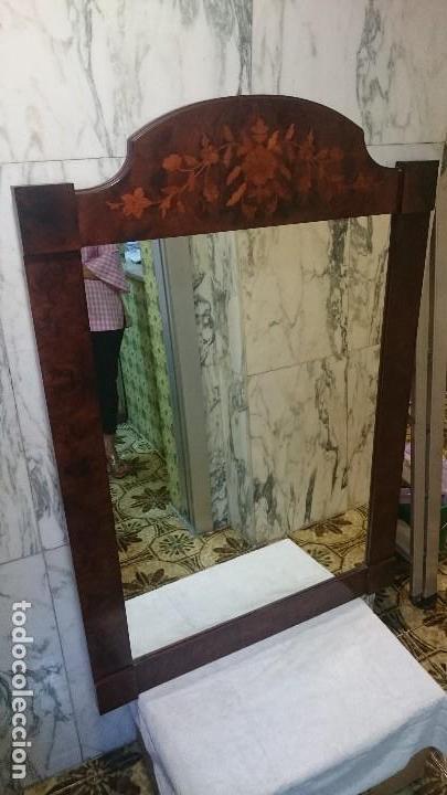 Antigüedades: Espectacular espejo de madera de raiz y limoncillo modernista. Años 20 Maravilloso.120x83 - Foto 2 - 225765970