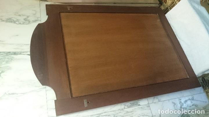 Antigüedades: Espectacular espejo de madera de raiz y limoncillo modernista. Años 20 Maravilloso.120x83 - Foto 4 - 225765970