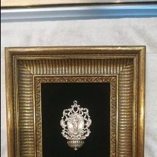 Antigüedades: MARAVILLOSA BENDITERA DE PLATA CON LA VIRGEN DEL CARMEN.. Lote 130487966