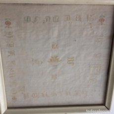 Dechado bordado. Finales siglo XVIII.