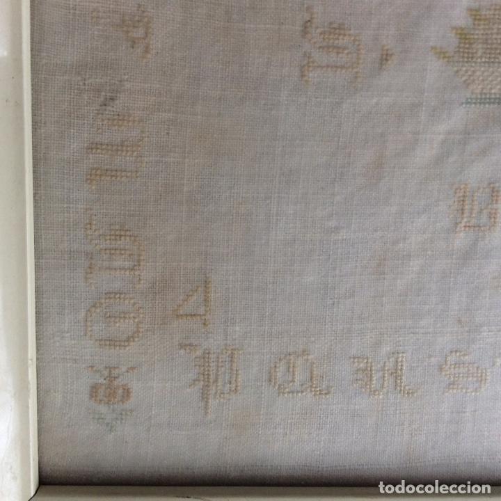 Antigüedades: Dechado bordado. Finales siglo XVIII. - Foto 2 - 130495898