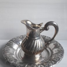 Antigüedades: AGUAMANIL EN ALPACA PLATEADA PPIOS 1900.. Lote 130500947