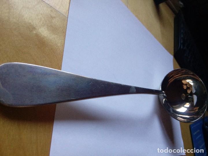 Antigüedades: Antiguo Cucharón sopero Alpaca Berndorf Alpacca Austria Metal - Foto 5 - 130510458
