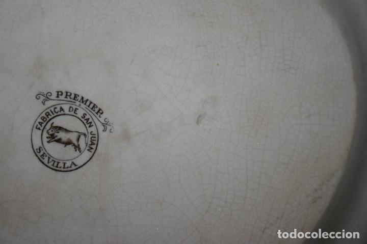 Antigüedades: Fuente San Juan, Premier, Sevilla, sello y marca. mide 38 x 28 cms. - Foto 7 - 130531874