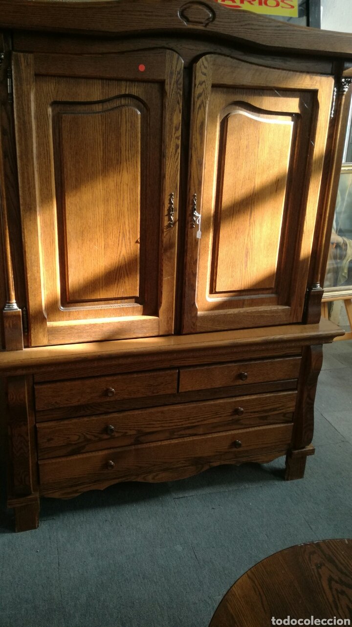 Antigüedades: Armario de madera de roble - Foto 2 - 130536503