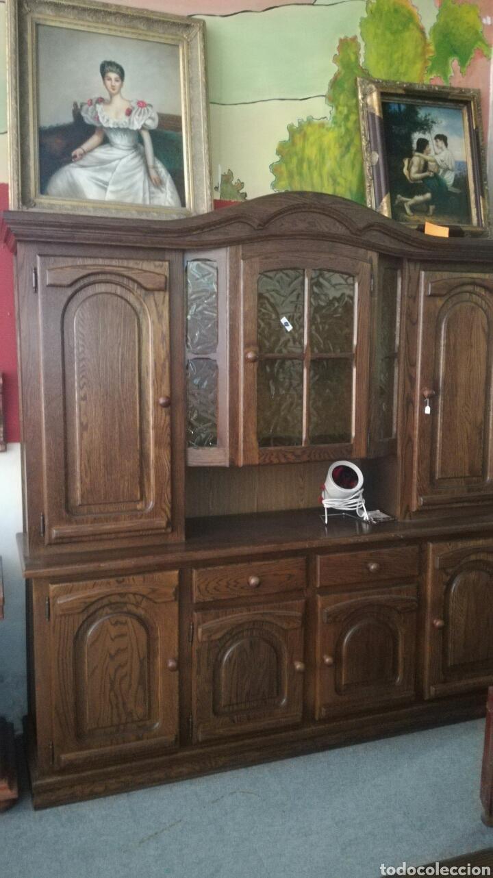 Antigüedades: Mueble aparador de madera de roble muy bonito en buen estado - Foto 2 - 130537276