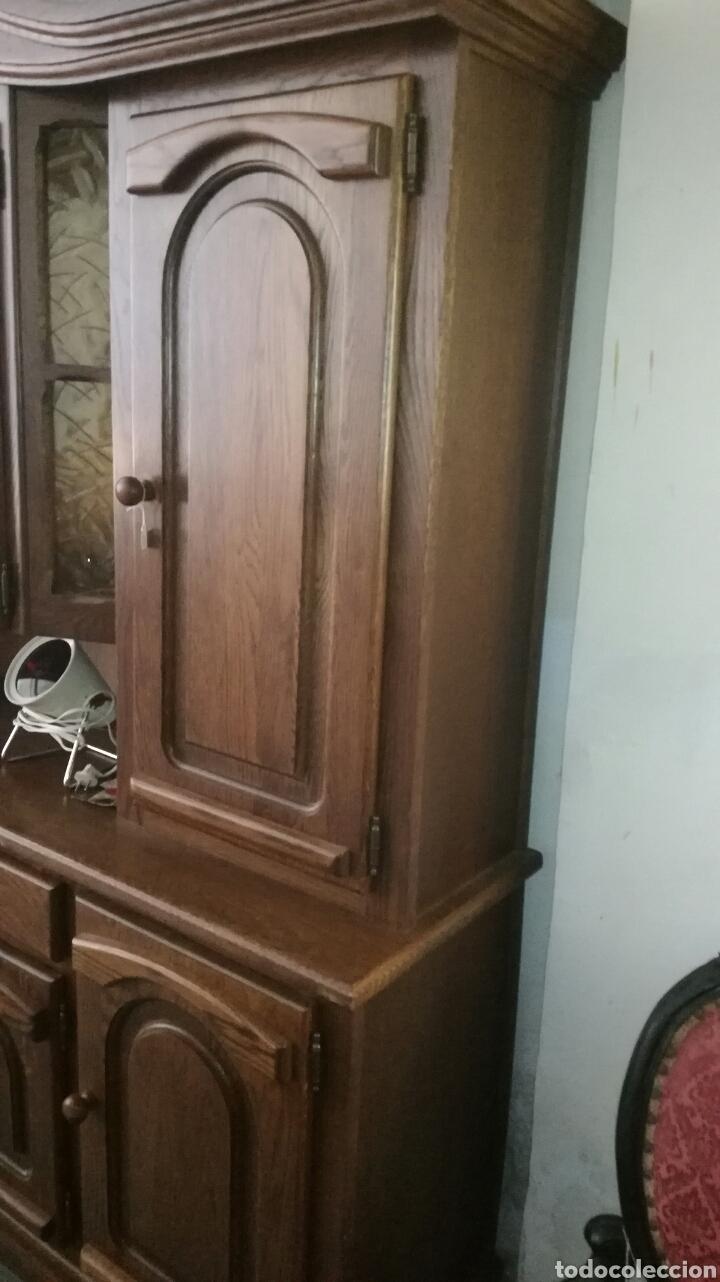 Antigüedades: Mueble aparador de madera de roble muy bonito en buen estado - Foto 3 - 130537276