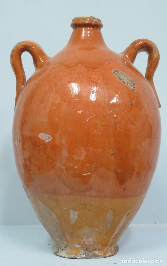 BOTIJA DE BARRO DE CUENCA. ALFARERIA POPULAR (Antigüedades - Porcelanas y Cerámicas - Otras)