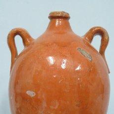 Antigüedades: BOTIJA DE BARRO DE CUENCA. ALFARERIA POPULAR. Lote 130545670
