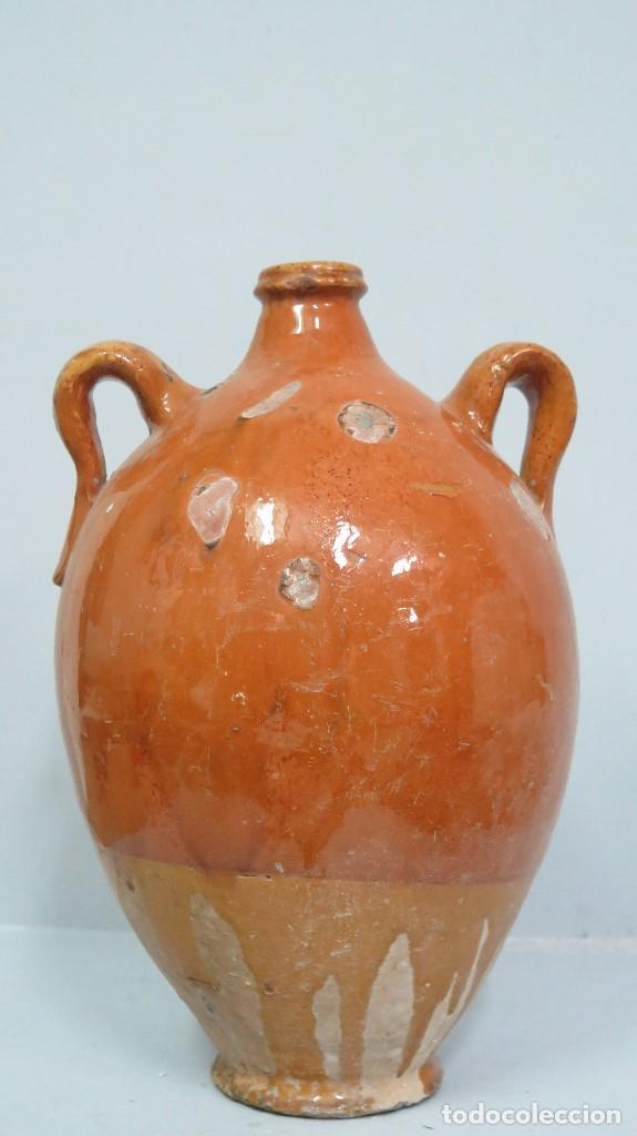 Antigüedades: BOTIJA DE BARRO DE CUENCA. ALFARERIA POPULAR - Foto 5 - 130545670