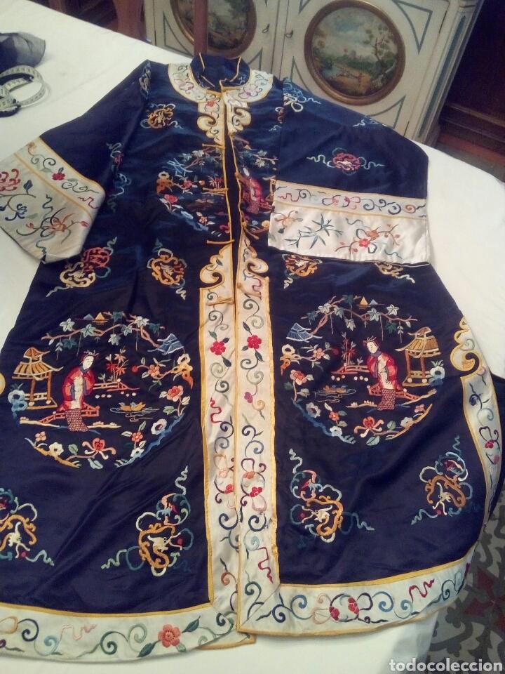 Antigüedades: Kimono bordado seda natural - Foto 3 - 107362271