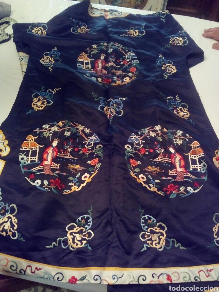 Antigüedades: Kimono bordado seda natural - Foto 6 - 107362271
