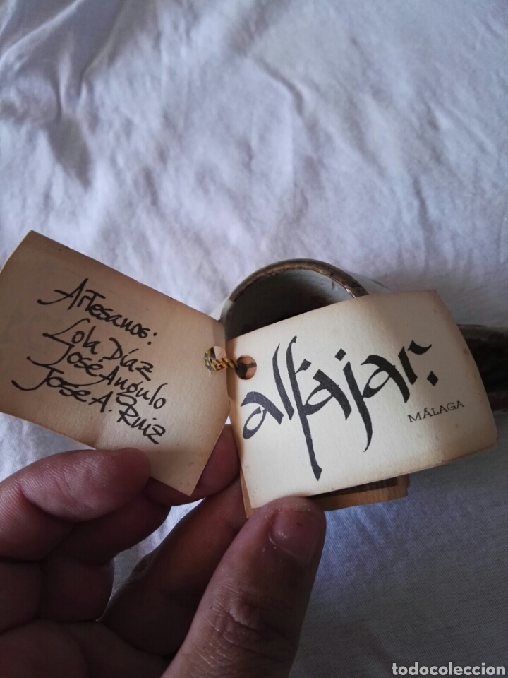 Antigüedades: Preciosa pieza alfajara ceramica malaga - Foto 7 - 130557990