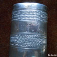 Antigüedades: TABAQUERA ANTIGUA -PLATA DE LEY. Lote 130558946