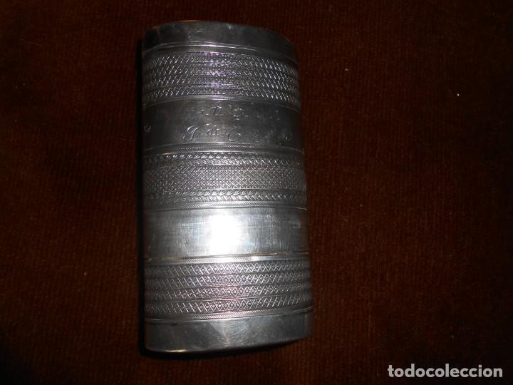 Antigüedades: TABAQUERA antigua -Plata de ley - Foto 2 - 130558946