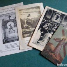 Antigüedades: LOTE DE ESTAMPAS Y RECORDATORIOS RELIGIOSOS. Lote 130561086