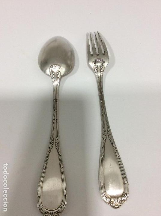 Antigüedades: Antiguo cubierto, cuchara y tenedor Siglo XIX - Foto 3 - 130584178