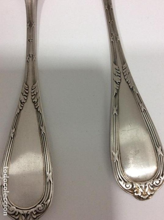 Antigüedades: Antiguo cubierto, cuchara y tenedor Siglo XIX - Foto 4 - 130584178