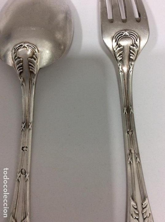 Antigüedades: Antiguo cubierto, cuchara y tenedor Siglo XIX - Foto 5 - 130584178