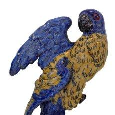 Antigüedades: EMILE GALLE PERROQUET ART NOUVEAU PARROT- NANCY CIRCA 1883, JARDINERA MODERNISTA EN FORMA DE LORO. Lote 130597182