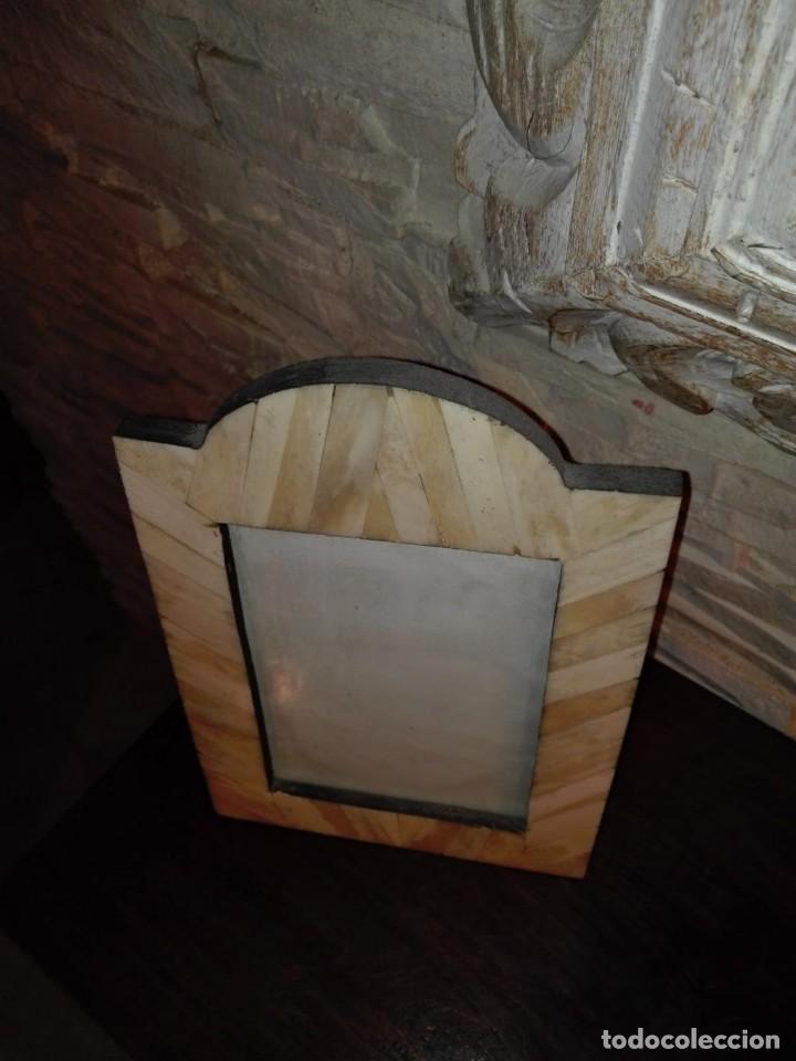 Antigüedades: PEQUEÑO MARCO EN HUESO - Foto 2 - 130597794