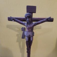 Antigüedades: CRISTO TALLA DE MADERA.. Lote 130599903