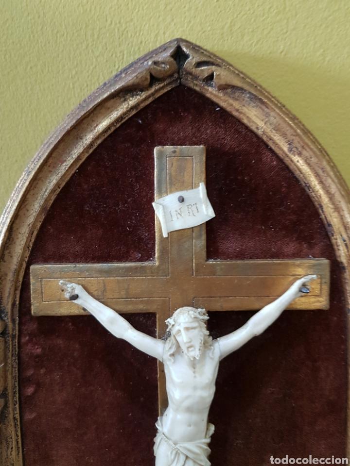 Antigüedades: CRISTO marfil antiguo. - Foto 2 - 130601015