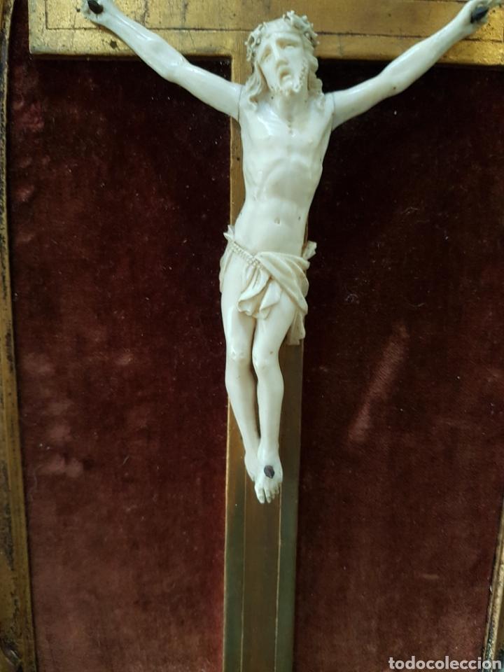 Antigüedades: CRISTO marfil antiguo. - Foto 3 - 130601015
