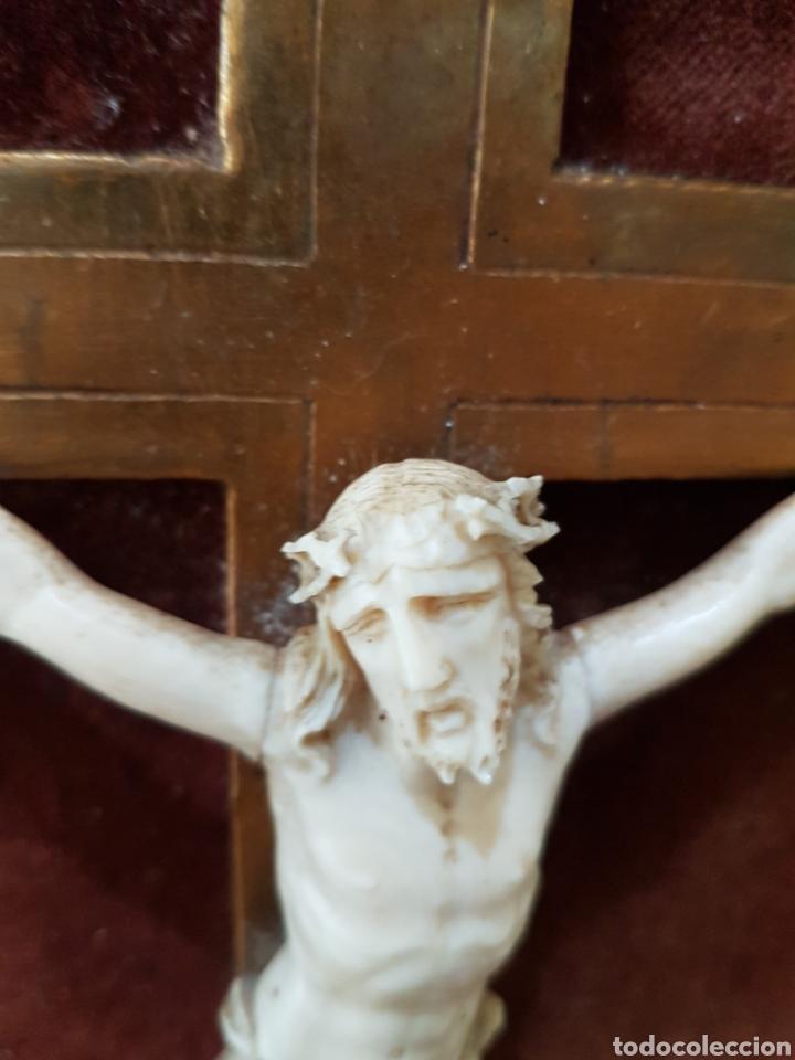 Antigüedades: CRISTO marfil antiguo. - Foto 6 - 130601015