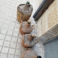 Antigüedades: LOTE DE 4 DAMAJUANAS. Lote 130604136