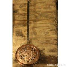 Antigüedades: ANTIGUO CALIENTACAMAS DE COBRE. Lote 130604254