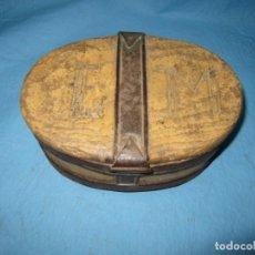 Antigüedades: ANTIGUA CAJA FIAMBRERA DE CORCHO USADA PARA LAS JOYAS EN BARCOS PIEZA DE MUSEO ETNOGRAFICA . Lote 130604778