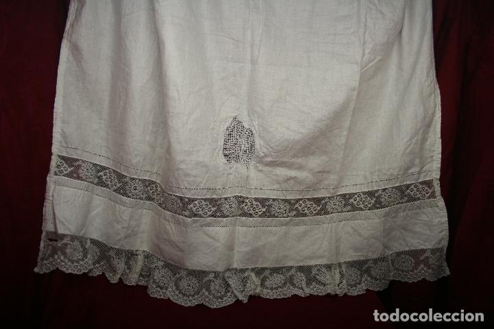Antigüedades: ANTIGUA CORTINA HILO, PUNTILLA A MANO - Foto 2 - 130612978