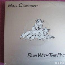 Discos de vinilo: LP - BAD COMPANY - RUN WITH THE PACK (SPAIN, ISLAND RECORDS 1976, PORTADA DOBLE). Lote 130627166