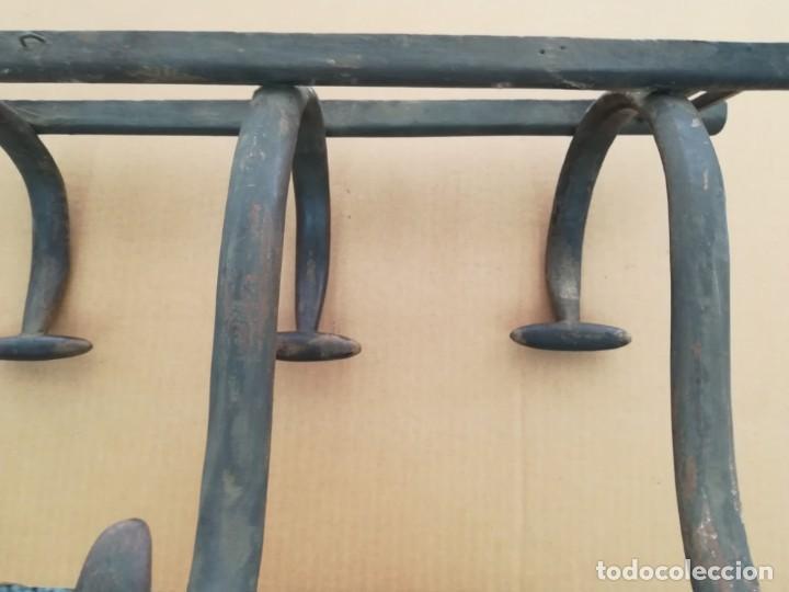 Antigüedades: ANTIGUO PERCHERO MADERA PERCHA 4 BRAZOS ESTILO THONET PARA ROPA Y SOMBREROS - Foto 5 - 130627770