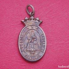 Antigüedades: RARA MEDALLA SIGLO XIX VIRGEN DE COVADONGA. ASTURIAS.. Lote 130638398