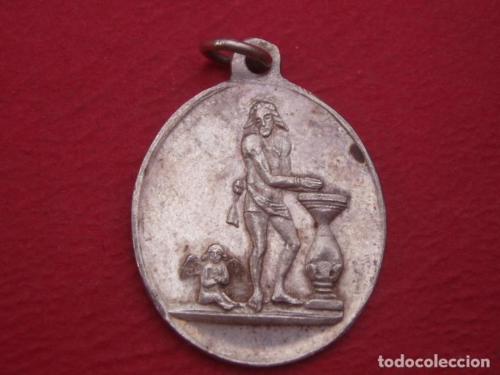 MEDALLA ANTIGUA SANTO CRISTO DE RIBAS. RIVAS, MADRID. (Antigüedades - Religiosas - Medallas Antiguas)