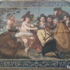 Antigüedades: TAPIZ PINTADO LA CORONACIÓN DE BACO. Lote 130668733