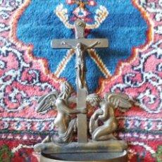 Antigüedades: PRECIOSA BENDITERA DE BRONCE. Lote 130671060