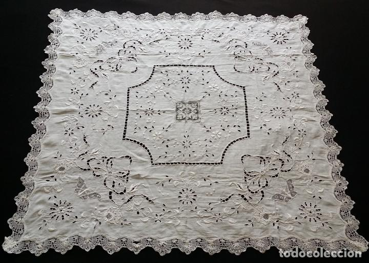 Antigüedades: Antiguo mantel - bordado modernista - Foto 3 - 130703844