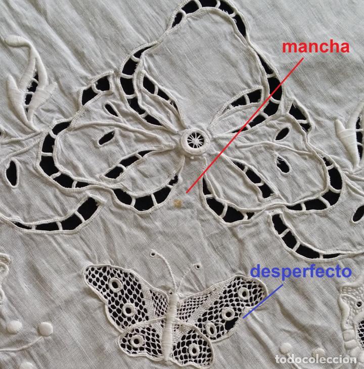 Antigüedades: Antiguo mantel - bordado modernista - Foto 16 - 130703844