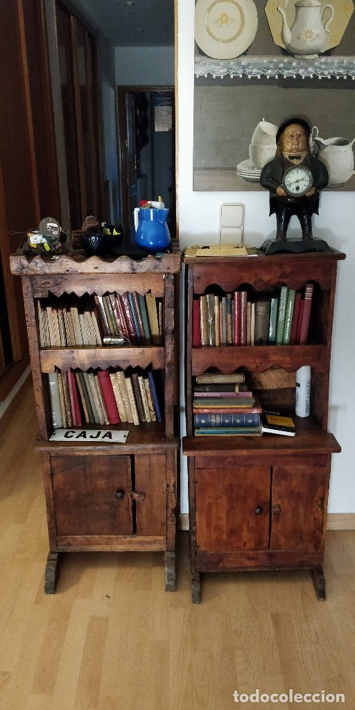 Antigüedades: Estantería- librería antigua de madera. Estilo Rustico. Muy decorativa.Tengo la pareja. - Foto 3 - 101736071