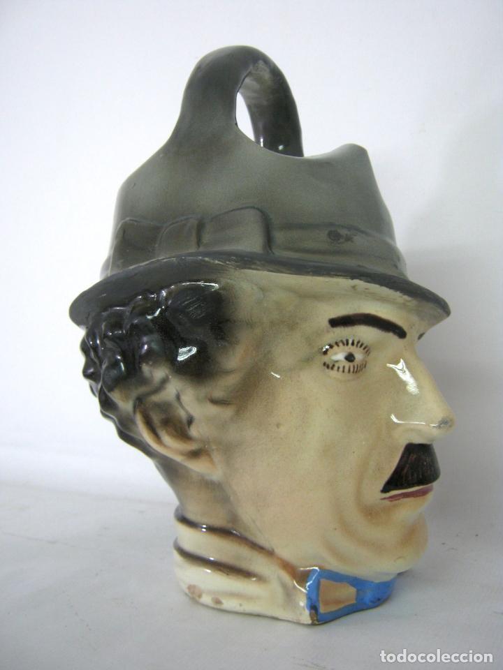 Antigüedades: ANTIGUO BOTIJO ART DECO CHARLES CHAPLIN, CHARLOT, MODERNISTA, ART NOUVEAU, MANISES - Foto 2 - 130765544