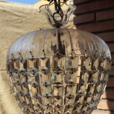 Antigüedades: LAMPARA DE CUENTAS DEL XIX. Lote 130767672