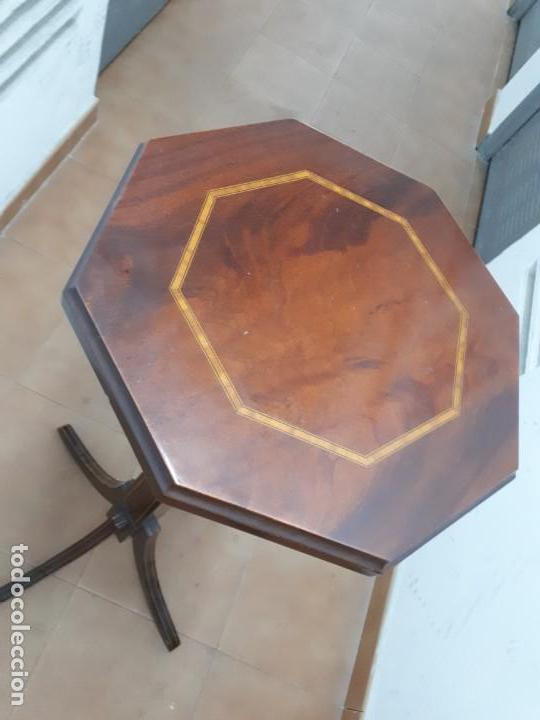 Antigüedades: Velador Mueble Pedestal de Madera. Altura: 129 cms. - Foto 3 - 130770688